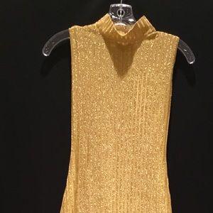 Beautiful Gold metallic evening dress